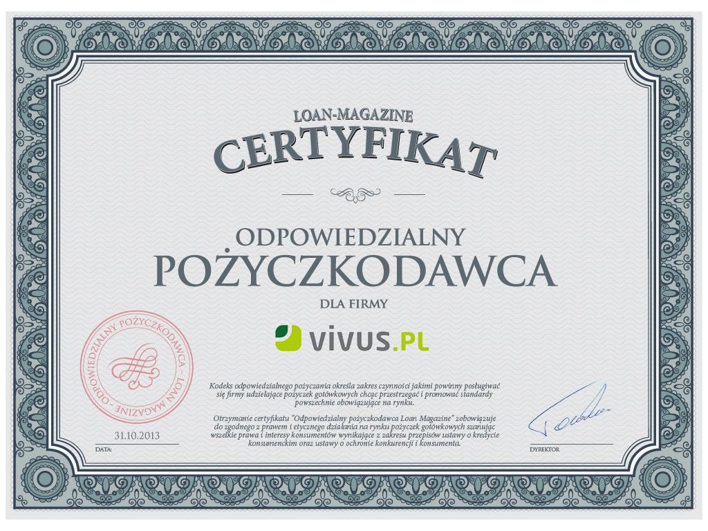 Vivus pożyczki - chwilówki