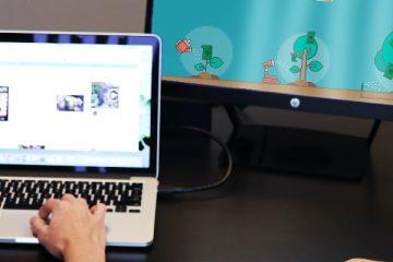 laptop i monitor