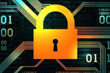 kłódka i cyberprzestrzeń