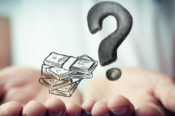 pieniądze i znak zapytania
